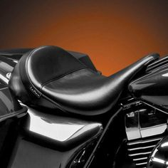 Le Pera Black Small Pillion Pad for Harley Custom Bobber Chopper