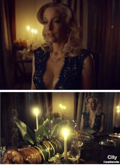 Dr. Bedelia Du Maurier waiting for guests to arrive for dinner. Hannibal Season 3 – 'The Wrath of the Lamb'