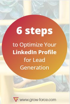 One of the perks of LinkedIn is that you can target your group in order to get more leads. But in order to do so, you'll need a great LinkedIn profile. In the article is explained in 6 steps how to optimze for more success.  #marketing #socialmedia #business #linkedIn Lead Generation, Target, Profile, How To Get, Success, Social Media, Led, Group, Marketing