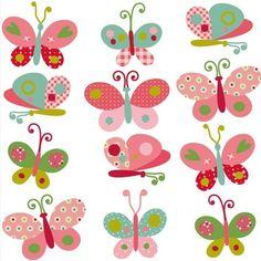 Backgrounds for creativity Applique Patterns, Applique Designs, Embroidery Applique, Felt Crafts, Diy And Crafts, Arts And Crafts, Paper Crafts, Butterfly Quilt, Butterfly Art