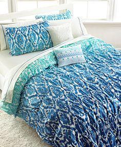 Ombre Ikat Twin Comforter Set