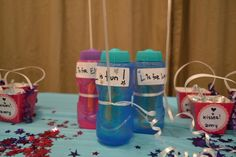 ...balloons & bubbles... centerpieces that double as favors
