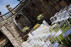 Villa Gamberaia Florence Tuscany wedding outdoor ceremony