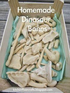 Kitchen Floor Crafts: Homemade Dinosaur Bones