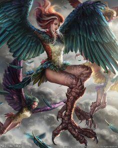 Mobius Final Fantasy - Dira by anotherwanderer on DeviantArt Harpy Arte Final Fantasy, Mobius Final Fantasy, Dark Fantasy Art, Fantasy Artwork, Fantasy World, Character Inspiration, Character Art, Character Design, Humanoid Creatures