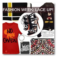 """""""Fashion Week Trend: LACE UP!"""" by eclectic-chic ❤ liked on Polyvore featuring Philipp Plein, River Island, Carvela, Boohoo, NYFW, laceup and snapmade"""
