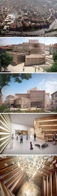 The Odunpazari Modern Art Museum by Kengo Kuma & Associates.