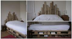 Planches de la palette en bois pour la tête de lit