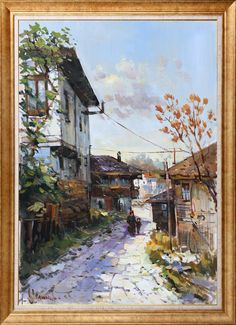 Kasaban n inden Ya l Boya Tablo Manet, Back Gardens, Art Oil, Istanbul, Art Decor, Miniatures, Fine Art, Nice, Pretty