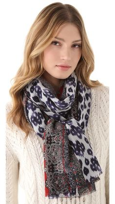 Isabel ikat scarf  Great way to add something extra to an outfit without going over-the-top.  Great way to draw attention to the face.