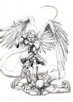 Archangel Michael Tattoo Drawing