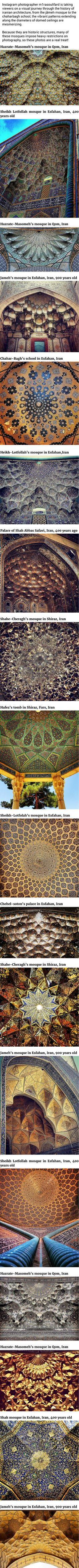 Photographer Captures The Mermerizing Beauty Of Iranian Mosque Cerlings - 9GAG