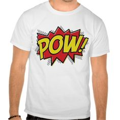 comic book style pow boom bang design t T Shirt, Hoodie for Men