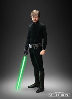 I've always liked Luke's green bladed lightsaber better than the one he inherited from Anakin.