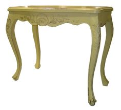 French Carved Sofa & Hall Table