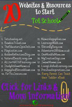 20 Websites & Resources to Start Tot School