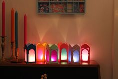 Paper lanterns with tamplate to download Ramadan Moroccan Lanterns <3