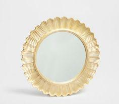 Zara Home - Round Golden Mirror £49.99