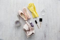 Chicago Dance Photography: How we dyed our pointe shoes &emdash; What you need to dye your pointe shoes