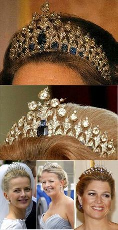 Golden Aged: Queen Maxima of the Netherlands: Inauguration Tiara Royal Crown Jewels, Royal Crowns, Royal Tiaras, Royal Jewelry, Tiaras And Crowns, Jewellery, African Diamonds, Circlet, Queen Maxima