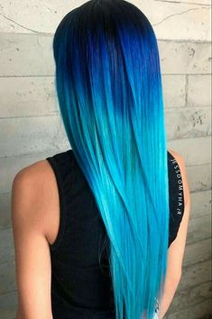 24 Fairy Blue Ombre Hair for Beautiful Girls - Hair Beauty Pretty Hair Color, Beautiful Hair Color, Ombre Hair Color, Best Hair Brush, Hair Dye Colors, Bright Hair, Prom Hair, Pretty Hairstyles, Blue Hairstyles