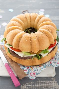 Ricetta Panino burger gigante (Giant Burger buns) Big Hamburger