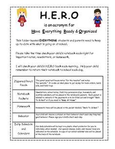 Super Hero Take Home Notebooks