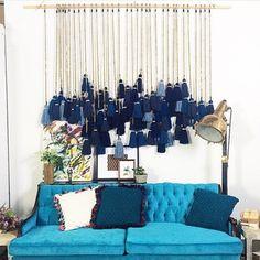Blue inspiration by Diy Home Crafts, Diy Home Decor, Beautiful Wall, Boho Decor, Decoration, Interior Inspiration, Creations, Wall Decor, Interior Design