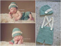 MADE TO ORDER Newborn Shorts Set Newborn by MooreCrochetNCrafts