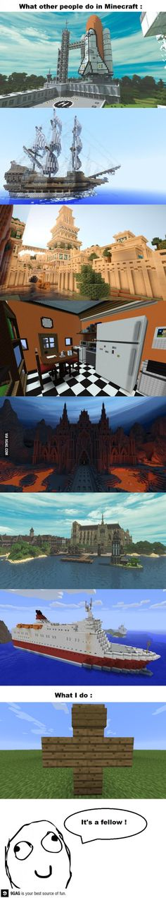Epic Minecraft Creations vs. not so cool one