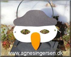 Snemandsmasken er ny på bloggen :)  Skabelonerne og vejledningen til masken finder du lige her:  http://agnesingersen.dk/blog/snemandmaske :) #snemand #snemandmaske #fastelavn #maske #snowman