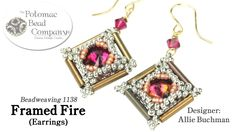 """This video from The Potomac Bead Company teaches you how to make Allie Buchman's """"Framed Fire"""" earrings. Find a list of supplies in the description. Our Webs..."""