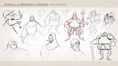 """¡Por fin podemos sacar a la luz el material de arte de """"Justin y la Espada del Valor"""", la película de animación en la que he estado trabajan..."""