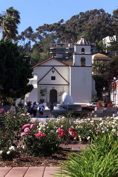 """Ventura.  Founded in 1782, the San Buenaventura Mission is the 9th and last mission founded by Junipero Serra. Named after St. Bonaventure it is known as the """"Mission by the sea""""."""