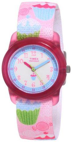 Timex Kids' T7B886 Analog Cupcakes Elastic Fabric Strap Watch - http://www.watchesandstuff.com/timex-kids-t7b886-analog-cupcakes-elastic-fabric-strap-watch/