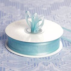 "25 Yard 7/8"" DIY Baby Blue Organza Ribbon With Satin Edges For Craft Dress Wedding 