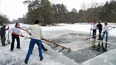 Part 7. How to make an ice hole.