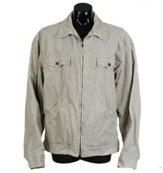 Vintage 80s 90s Beige Zip Up 'Levis' Cord Jacket, White Levis Jacket, corduroy jacket, cord coat, unisex, unisex jacket, oversized by FannyAdamsVC on Etsy