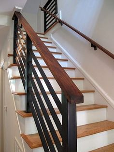 37 Amazing Stairs Design Picture you Must See - Engineering Basic - Home Design Stairway Railing Ideas, Interior Stair Railing, Modern Stair Railing, Stair Railing Design, Staircase Railings, Modern Stairs, Banisters, Metal Handrails For Stairs, Painted Staircases