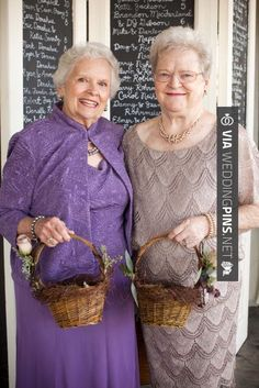 So cool - Have grandmas as flower girls! | Offbeat Bride too bad we don't have grandmas because I would soo do this!!! | CHECK OUT MORE GREAT FLOWER GIRL AND RING BEARER PHOTOS AND IDEAS AT WEDDINGPINS.NET | #weddings #wedding #flowergirl #flowergirls #rings #weddingring #ringbearer #ringbearers #weddingphotographer #bachelorparty #events #forweddings #fairytalewedding #fairytaleweddings #romance