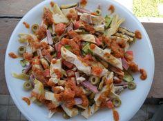 Ricetta insalata di pollo e verdure grigliate