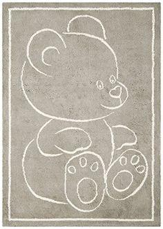Teppich Kinderzimmer Baby Carpet modernes Design TEDDYBÄR RUG 100% Baumwolle 100x150 cm Rechteckig Beige | Teppiche günstig online kaufen  https://www.amazon.de/dp/B01GDC4G26