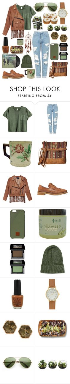"""""""Untitled 204"""" by meaganmuffins on Polyvore featuring Topshop, American West, Native Union, Make, OPI, Panacea and ZeroUV"""