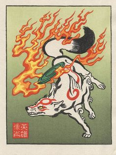 'The World Goddess' (Ōkami) Ukiyo-E Heroes By Jed Henry and Dave Bull