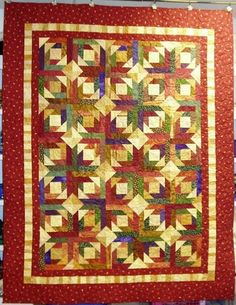 autumn quilts | ... take a border fabric I love and pull just those colors for the quilt