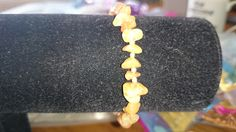 Agate chip bracelet with silver plated spacer beads www.facebook.com/KimsGlitteringGems