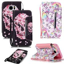 Unicorn Flower Skull Style Flip Cover Wallet Leather Pouch Case FOR Cellphones | eBay