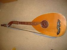 Very  nice and old Double neck harp guitar / harp lute  INTERESTING!!