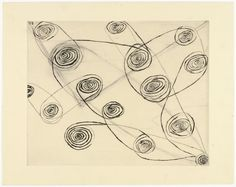 """Louise Bourgeois. Untitled. 1989–1990. State I of IV, variant. Drypoint, with hand additions. plate: 11 7/8 x 14 7/8"""" (30.2 x 37.8 cm); sheet: 14 15/16 x 18 7/8"""" (38 x 48cm). unpublished. Harlan & Weaver, New York. 2 known variant impressions of state I. Not numbered. Gift of the artist. 543.1993. © 2016 The Easton Foundation/Licensed by VAGA, NY. Drawings and Prints"""