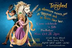Cool Rapunzel Birthday Party Invitation Ideas Tangled